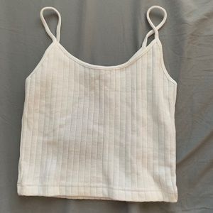 Brandy Melville white ribbed cage crop top